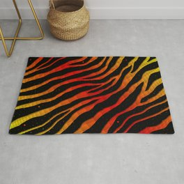 Ripped SpaceTime Stripes - Yellow/Red Rug