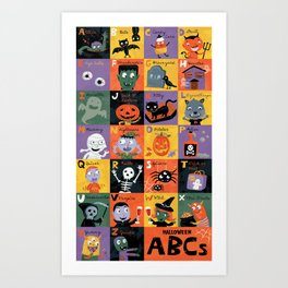 Halloween ABCs Art Print