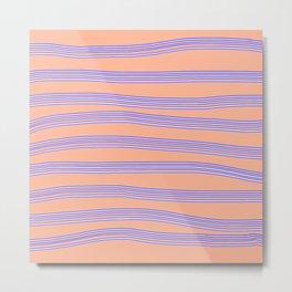 Blue lines Metal Print
