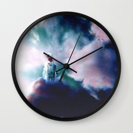 Astronaut in the Clouds-Trippy Wall Clock