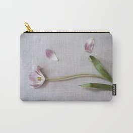 Tulips on pink Carry-All Pouch