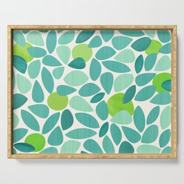 Mid Century Lime Tree Serving Tray