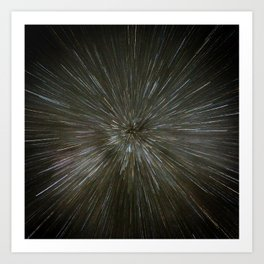 zooming towards stars Art Print
