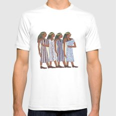 Egyptians White MEDIUM Mens Fitted Tee