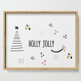 Minimal Holiday Designs :: Holly Jolly Serving Tray