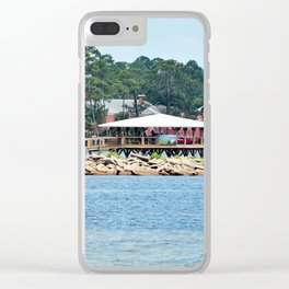 Port St. Joe Marina view 12 Clear iPhone Case