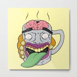 Brain mug Metal Print