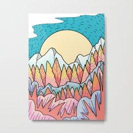 Autumnal mountain lands Metal Print