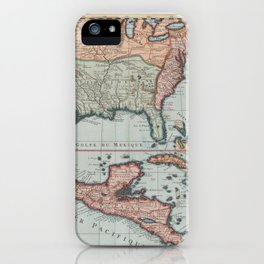 Vintage Map of The Gulf of Mexico (1732) iPhone Case