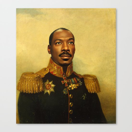 Eddie Murphy - replaceface Canvas Print