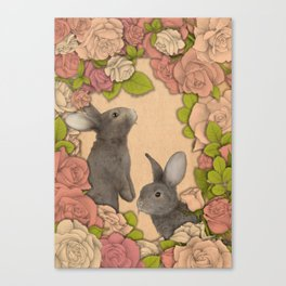 Rosie Rabbits Canvas Print