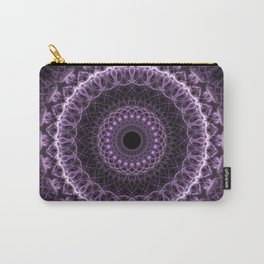 Detailed mandala in gray and violet tones Carry-All Pouch