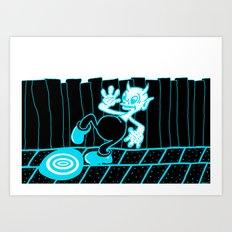 IMPERVIOUS PUDDLE. Art Print