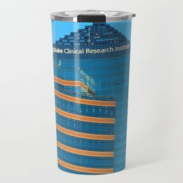 Blue And Gold Building Travel Mug