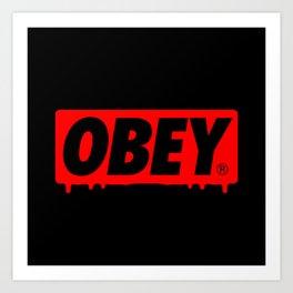 OBEY Bleeding Art Print