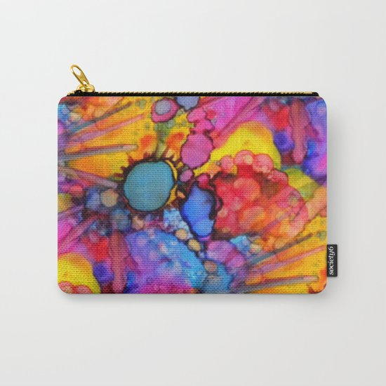 Rainbow Splats Alcohol Inks Carry-All Pouch