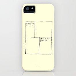 Make A Comic iPhone Case