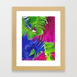 Colorful tropical leaves Framed Art Print