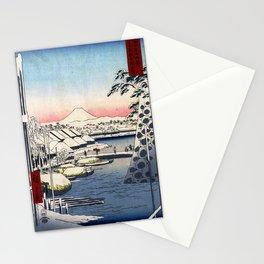 Hiroshige - 36 Views of Mount Fuji (1858) - 03: Sukiyagashi in the Eastern Capital Stationery Cards