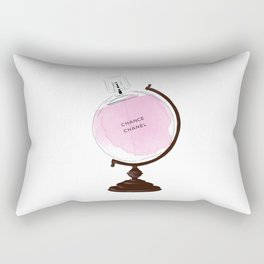 Pink Perfume Globus Rectangular Pillow