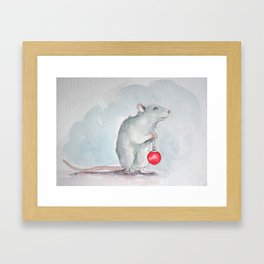 Chritmas rat Framed Art Print