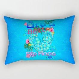 Life Is Better In Flip Flops Rectangular Pillow