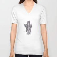 anatomy V-neck T-shirts featuring Anatomy by PSimages