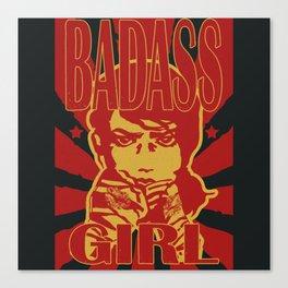 Badass Girl, red Canvas Print