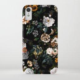 Floral Night Garden iPhone Case