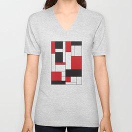 Geometric Abstract - Rectangulars Colored Unisex V-Neck