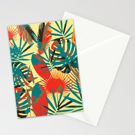 Abstract Exotique Leaves Stationery Cards