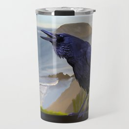 Corvid by the Sea Travel Mug