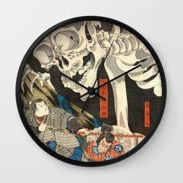 Utagawa Kuniyoshi - Takiyasha the Witch and the Skeleton Spectre Wall Clock
