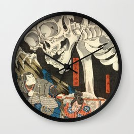 Utagawa Kuniyoshi - Takiyasha the Witch and the Skeleton Spectre Wall Clock