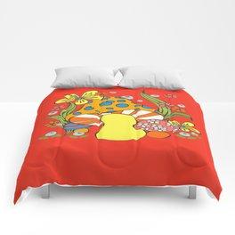 Retro Mushroom Comforters