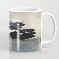 banksy Mugs featuring BANKSY  by Art Ground
