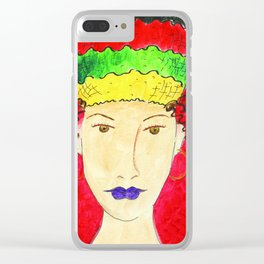 Turban Queen Clear iPhone Case