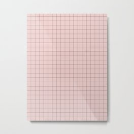 Simply Pink Metal Print