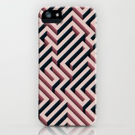 Pink Maze iPhone Case