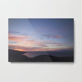 Sunset over the Santa Barbra Channel Metal Print