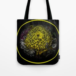 Black Yellow Pink Design Tote Bag