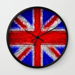 Union Jack Flag Fratilius Wall Clock