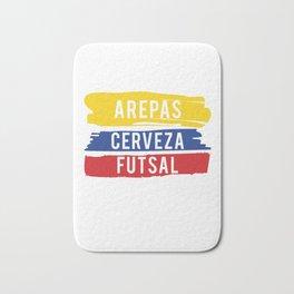 Arepas Cerveza Futsal design Colombian indoor soccer Gift Bath Mat