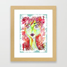 You Don't Scare Me, My Best Friend is Red-Head Framed Art Print