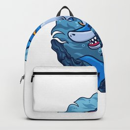 Happy Shark Illustration Backpack