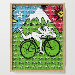 Bicycle Day Blotter Art Serving Tray