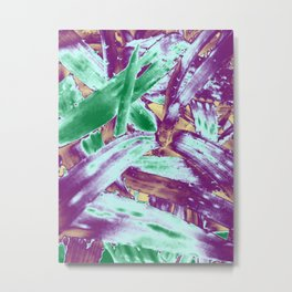 Tropical texture in gradient of several colours ready for many products Metal Print