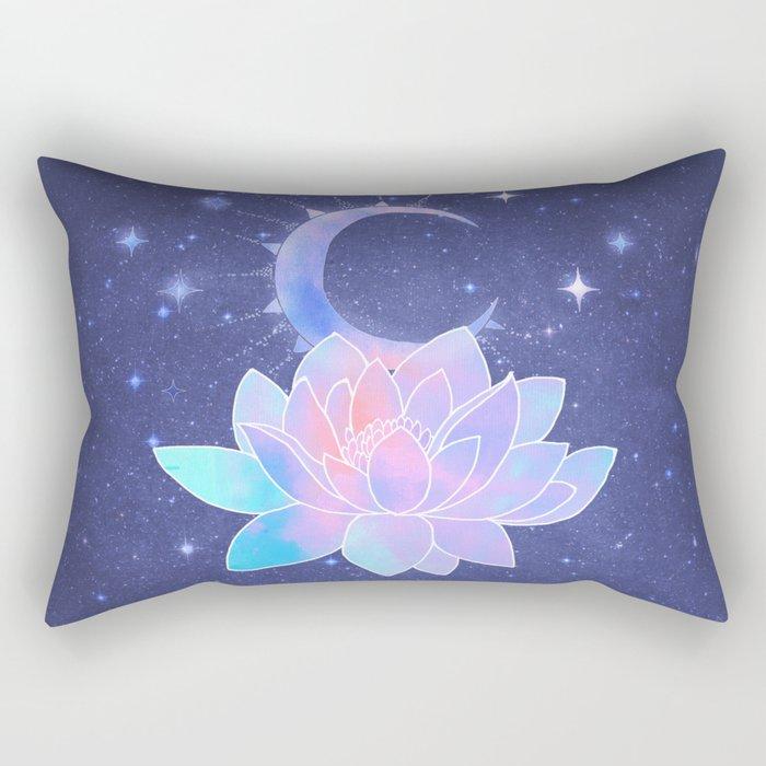 moon lotus flower Rectangular Pillow