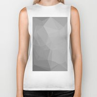 gray pattern Biker Tanks featuring Gray by LORNAldt