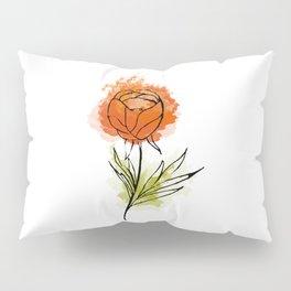 orange bright  abstract flower Pillow Sham